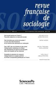 Sciences Po - Revue française de sociologie N° 59-4, novembre-dé : .