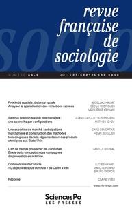 Sciences Po - Revue française de sociologie N° 60-3, juillet-sep : .