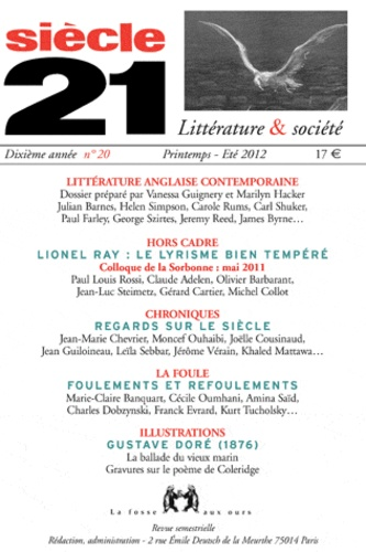 Vanessa Guignery et Marilyn Hacker - Siècle 21 N° 20, Printemps-été : Littérature anglaise contemporaine.
