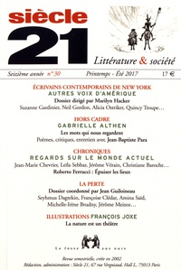 Marilyn Hacker - Siècle 21 N° 30, printemps-été : Ecrivains contemporains de New York - Autres voix d'Amérique.