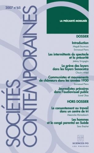 Emmanuel Pierru et Magali Boumaza - Sociétés contemporaines N° 65, Janvier-mars : La précarité mobilisée.