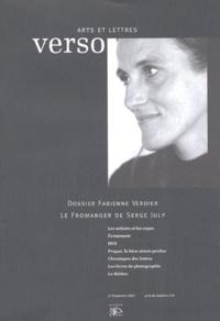 Fabienne Verdier - Verso Arts et Lettres N° 29, Janvier 2003 : Fabienne Verdier - Le Fromanger de Serge July.