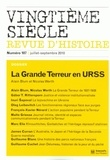 Alain Blum et Nicolas Werth - Vingtième siècle N° 107, Juillet-sept : La Grande Terreur en URSS.