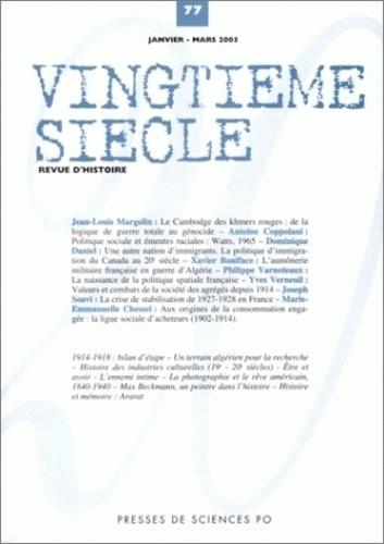 Collectif - Vingtième siècle N° 77 Janvier-Mars 2 : .