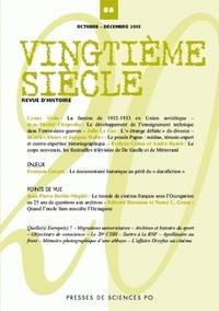 Jean-Michel Chapoulie et Jacques Walter - Vingtième siècle N° 88, Octobre-décem : .