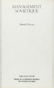 Harold Bherer - Management soviétique - Administration et planification.