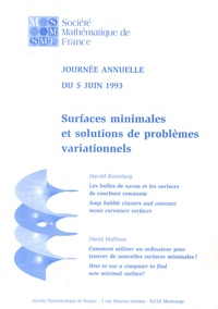 Harold Rosenberg et David Hoffman - Surfaces minimales et solutions de problèmes variationnels.