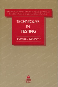 Harold S Madsen - Techniques in testing.