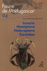 Harry Brailovsky Alperowitz - Insecta Hemiptera Heteroptera Coreidae.