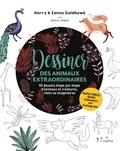 Harry Goldhawk et Zanna Goldhawk - Dessiner des animaux extraordinaires - 50 dessins étape par étape d'animaux et créatures, réels ou imaginaires.