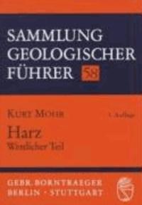 Harz, Westlicher Teil.