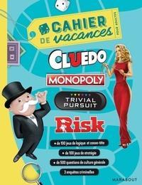 Hasbro - Cahier de vacances pour adultes Cluedo, Monopoly, Trivial Poursuit, Risk.