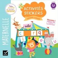 Hatier - Activités stickers lettres cursives - Maternelle Grande Section 5-6 ans.