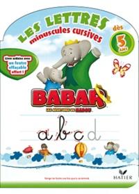 Deedr.fr Babar, les lettres minuscules cursives - Livre ardoise avec un feutre effaçable Image