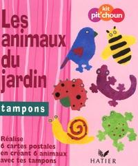 Hatier - Les animaux du jardin - Tampons ; réalise 6 cartes postales en créant 6 animaux avec tes tampons.