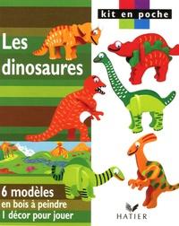 Hatier - Les dinosaures - 6 modèles en bois à peindre 1 décor pour jouer.