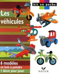 Hatier - Les véhicules - 6 modèles en bois à peindre, 1 décor pour jouer.
