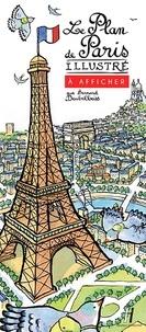 Bernard Deubelbeiss - Le plan de Paris illustré à afficher.
