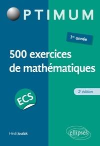 Deedr.fr 500 exercices de mathématiques en ECS - 1re année Image