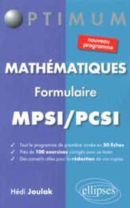Hédi Joulak - Mathématiques MPSI/PCSI - Formulaire.