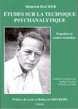 Heinrich Racker - Etudes sur la technique psychanalytique - Transfert et contre-transfert.