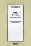 Heinrich Rickert et Martin Heidegger - Lettres 1912-1933 - Et autres documents.