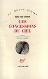 Heinz Von Cramer - Les concessions du ciel.