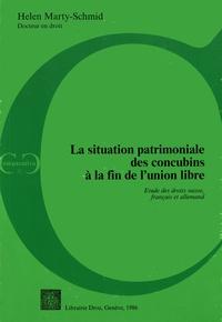 La situation patrimoniale des concubins à la fin de l'union libre- Etude des droits suisse, français et allemand - Helen Marty-Schmid pdf epub
