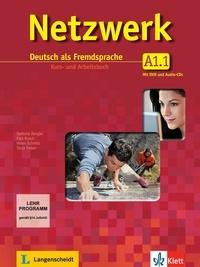 Netzwerk A1 in Teilbänden - Kurs- und Arbeitsbuch, Teil 1 mit 2 Audio-CDs und DVD- Deutsch als Fremdsprache - Helen Schmitz |