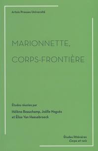 Hélène Beauchamp et Joëlle Noguès - Marionnette, corps-frontière.