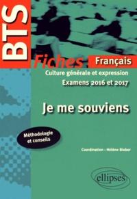 Je me souviens - Fiches de culture générale et expression Examens 2016 et 2017.pdf