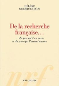 De la recherche française... - Du peu quil en reste et du pire qui lattend encore.pdf