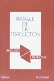 Hélène Chuquet - Pratique de la traduction - Anglais-français.