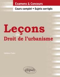 Hélène Cloëz - Leçons de droit de l'urbanisme.