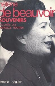 Hélène de Beauvoir et Marcelle Routier - Souvenirs.