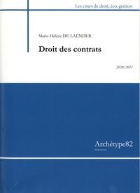Hélène de Laender - Droits des contrats - Cours et exercices corrigés.