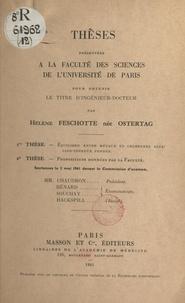 Hélène Feschotte et Hélène Ostertag - Équilibre entre métaux et chlorures alcalino-terreux fondus - Thèse présentées à la Faculté des sciences de l'Université de Paris pour obtenir le titre d'ingénieur-docteur.