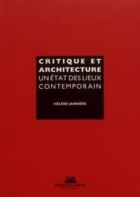 Hélène Jannière - Critique et architecture - Un état des lieux contemporain.