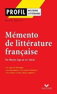 Hélène Potelet - Profil - Mémento de la littérature française.