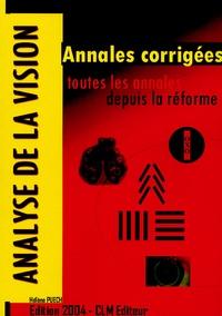 Hélène Puech - Analyse de la vision - Annales corrigées.
