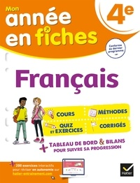 Hélène Ricard et Matthieu Verrier - Français 4e - fiches de révision & exercices.