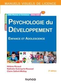 Hélène Ricaud et Nathalie Oubrayrie-Roussel - Manuel visuel de psychologie du développement - 3e éd. - Enfance et adolescence.