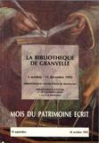 Hélène Richard et Germaine Mathieu - La bibliothèque de Granvelle - 2 octobre - 12 décembre 1992, Bibliothèques municipales de Besançon.