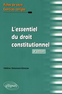 L'essentiel du droit constitutionnel - Hélène Simonian-Gineste |