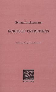 Helmut Lachenmann - Ecrits et entretiens.