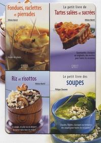 Héloïse Martel et Philippe Chavanne - Le petit coffret Cuisine d'hiver ! - Pack en 4 volumes : Fondues, raclettes et pierrades ; Tartes salées et sucrées ; Riz et risottos ; Le petit livre des soupes.