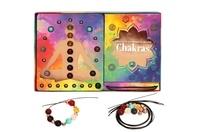 Helvise Gallet - Bracelets d'harmonie de vos chakras - Utilisez le pouvoir des pierres pour équilibrer vos 7 centres énergétiques - Coffret avec 7 liens pour bracelets, 14 bloque-pierres et 2 x 7 pierres naturelles.