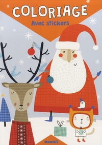Hemma - Coloriage avec stickers - Père Noël.