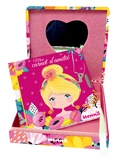 Hemma - Girly, Mon coffret secret - Une jolie boîte avec miroir et un carnet d'amitié avec cadenas + 2 clefs.