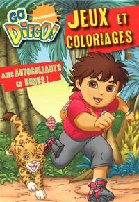 Hemma - Go Diego ! Jeux et coloriages avec autocollants.